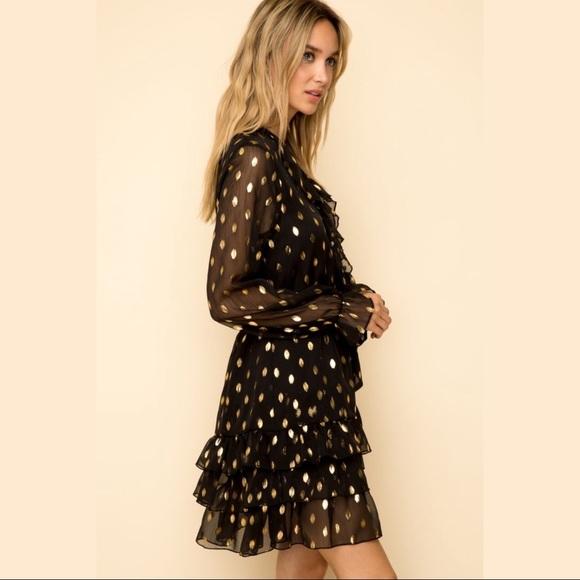Metallic Dot Party Dress